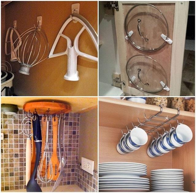 como-organizar-armarios-de-cozinha-com-ganchos
