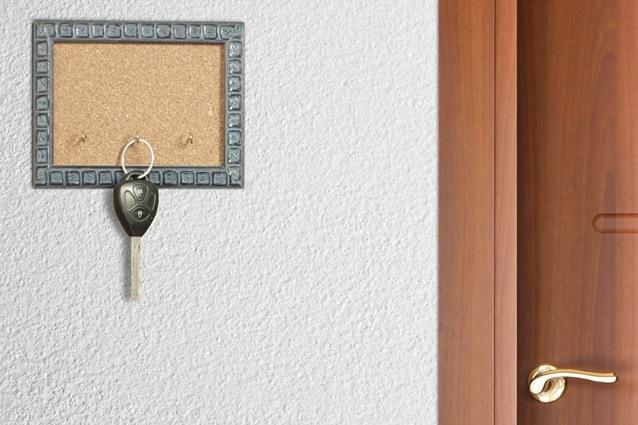Quadro porta-chaves com cortiça