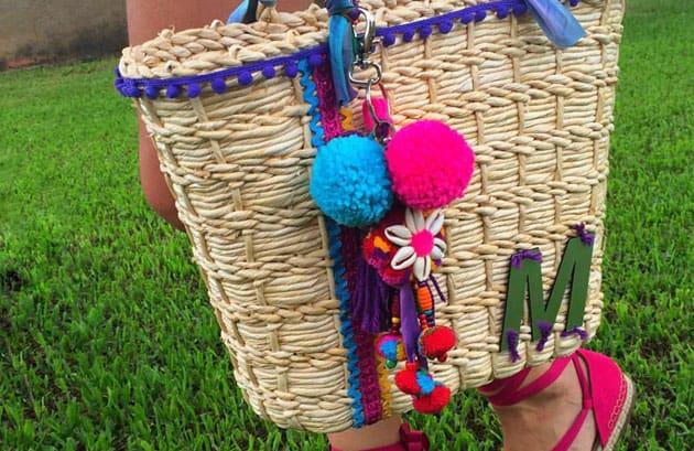 como customizar sacola de praia DIY
