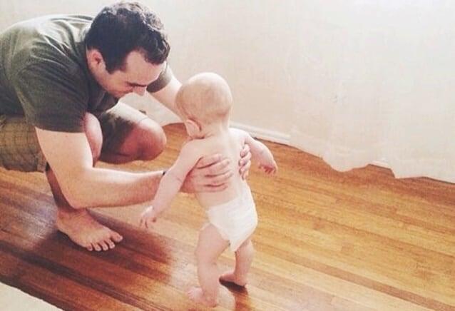 bebê começou a andar