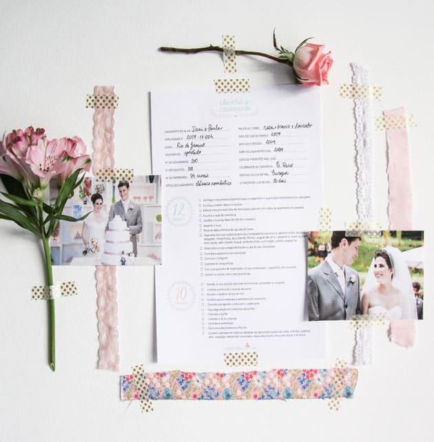 Check list final de casamento