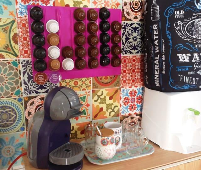 porta-cápsulas de café pronto