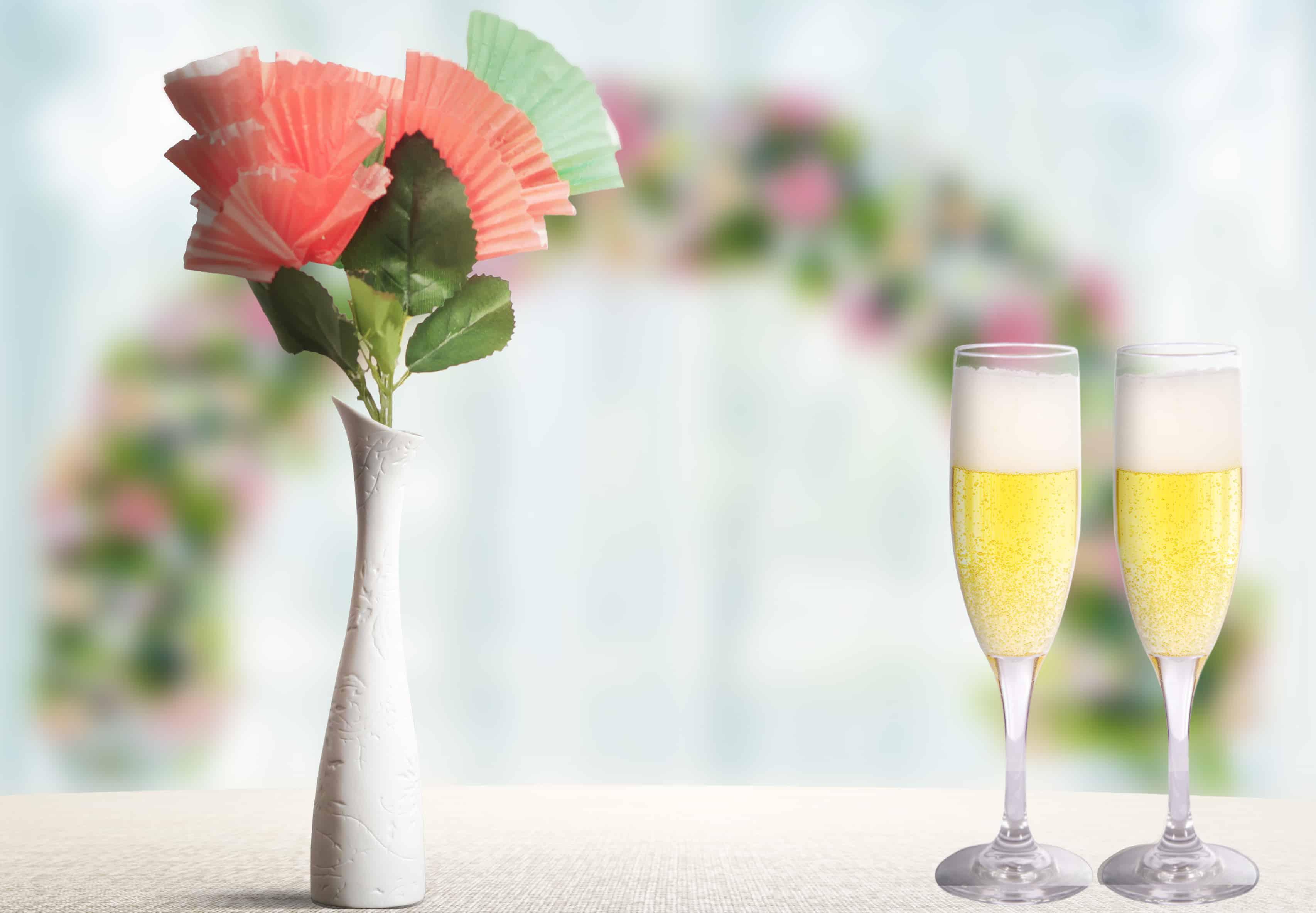 flores feitas com forminha de doce