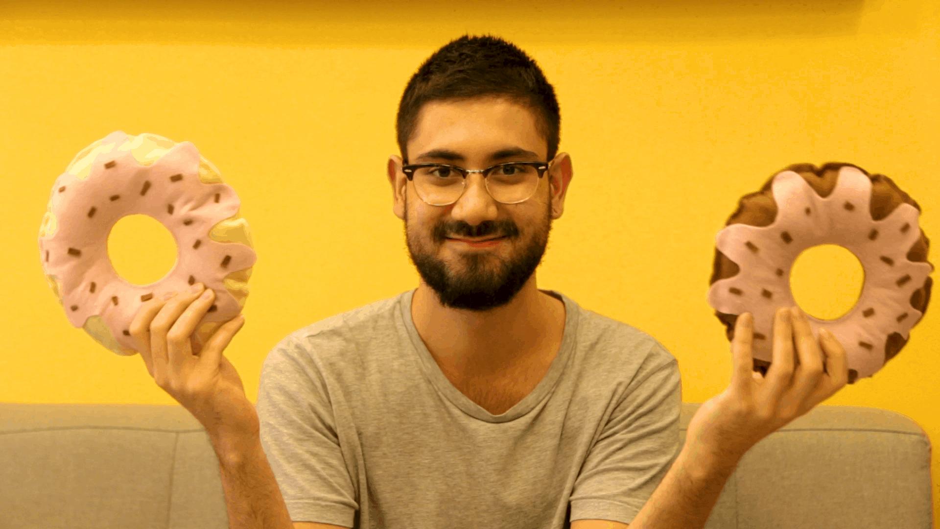 almofada donut DIY sem costura