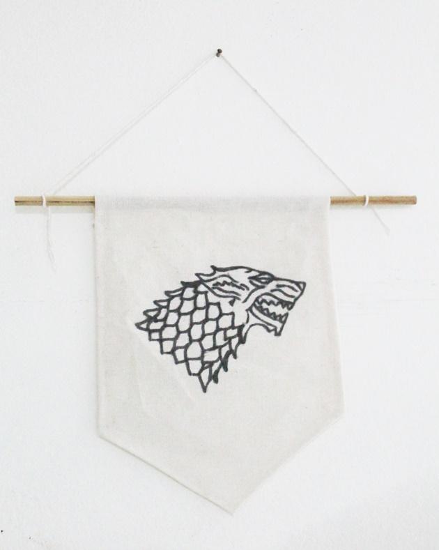 flâmula medieval de tecido