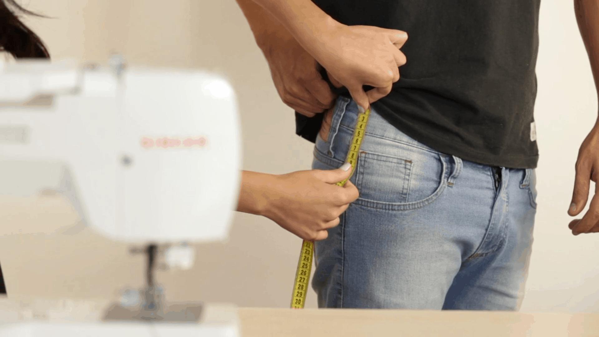 como fazer barra original de calça jeans