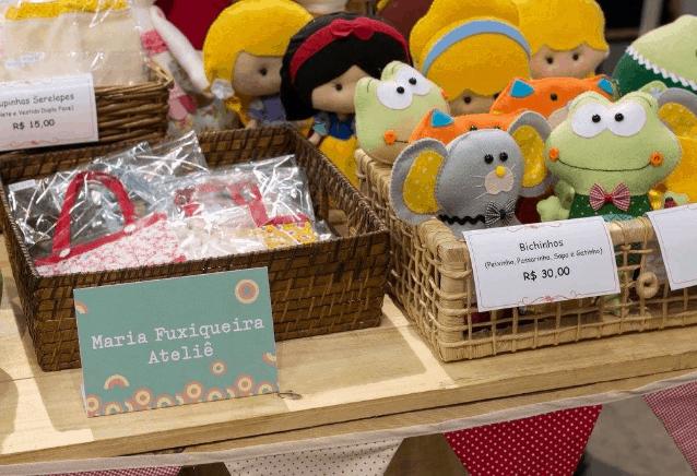 Como expor produtos em feiras e bazares cestas