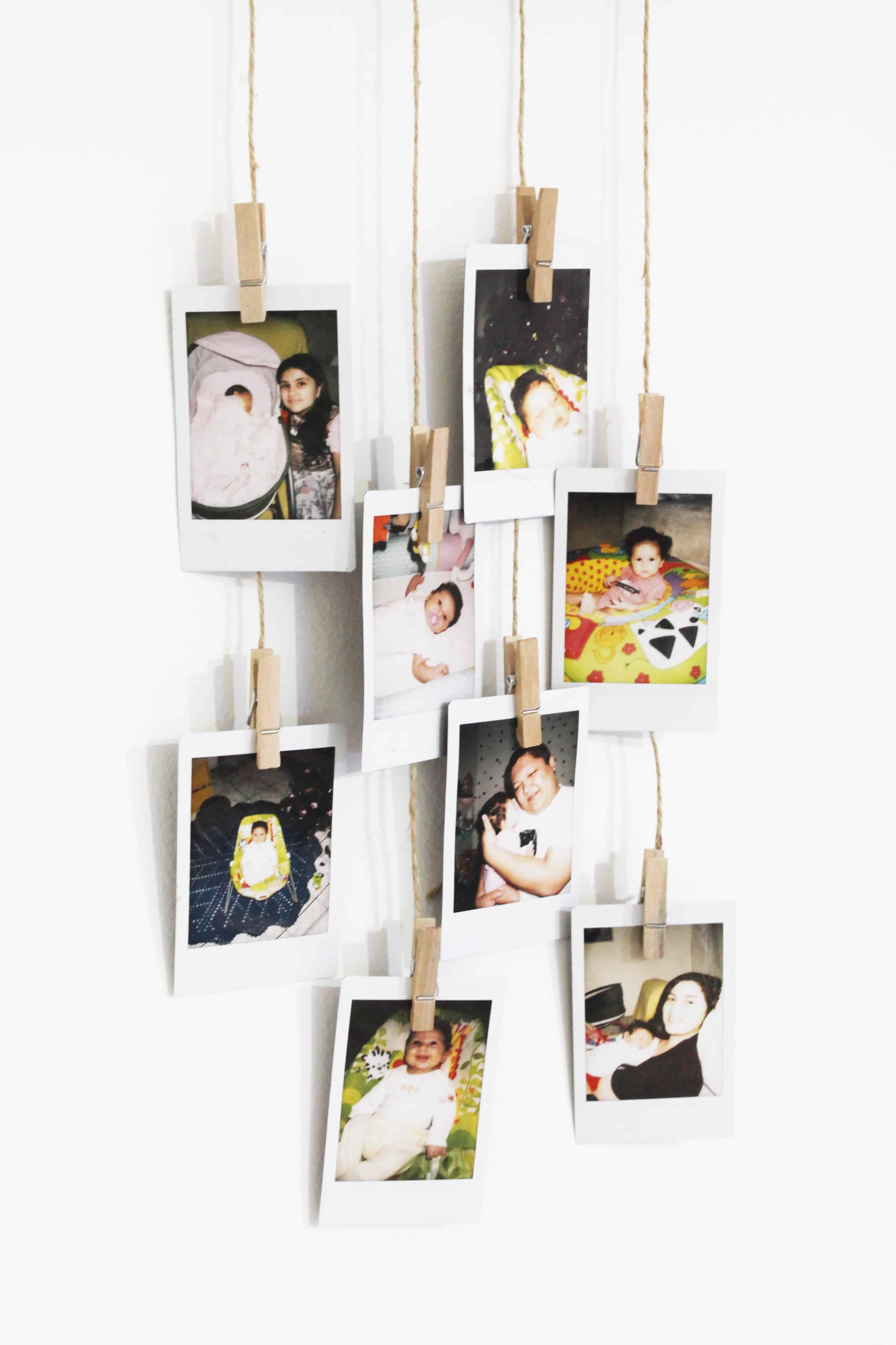 painel de fotos rústico