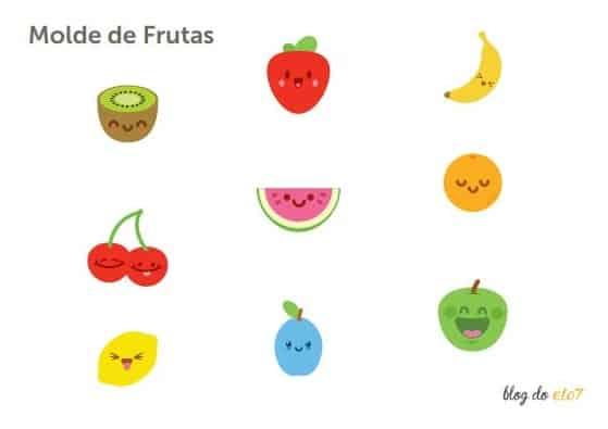 Moldes de frutas para festa quitandinha
