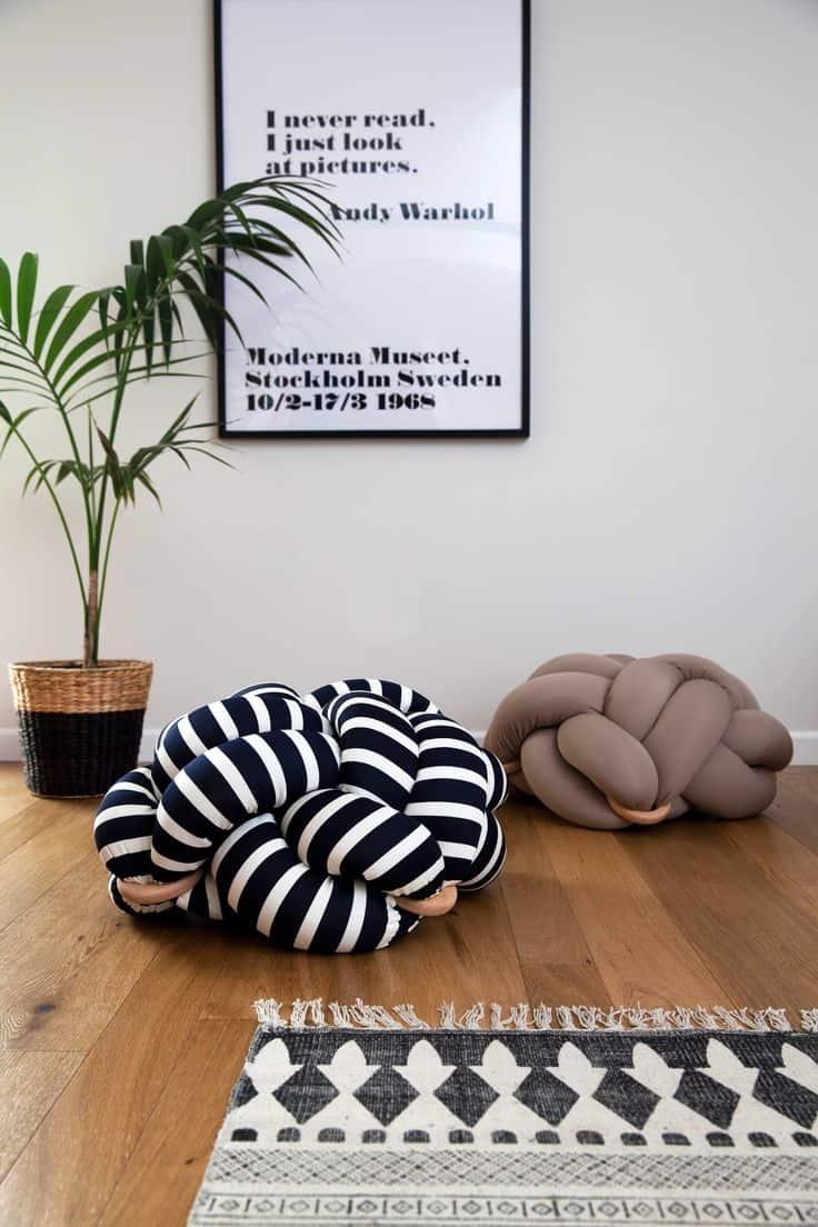 almofada nó é tendência na decoração