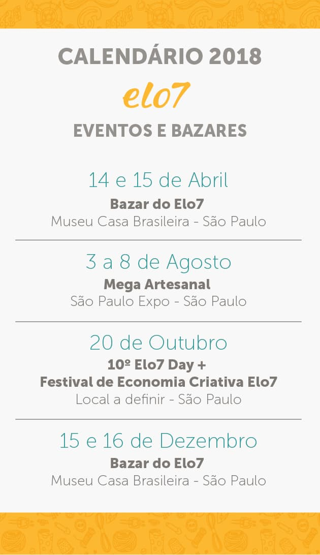 Eventos e Bazares do Elo7 2018