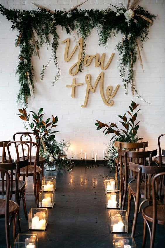 lettering no casamento