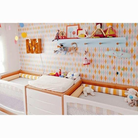 quarto de bebês gêmeos