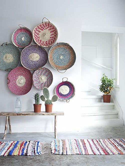 cestos na decoração de sua casa