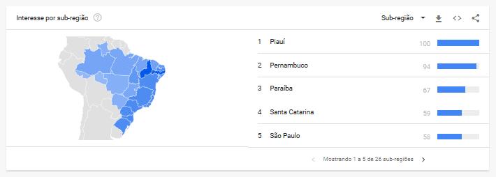 Google Trends mapas