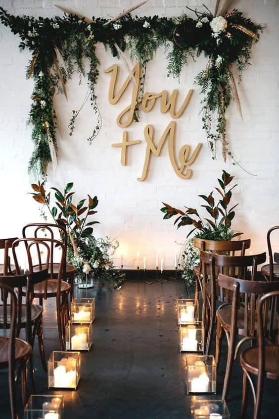 plantas na decoração do casamento