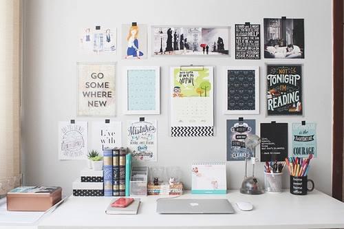 Decorar o atelier com posteres inspiradores washi tape