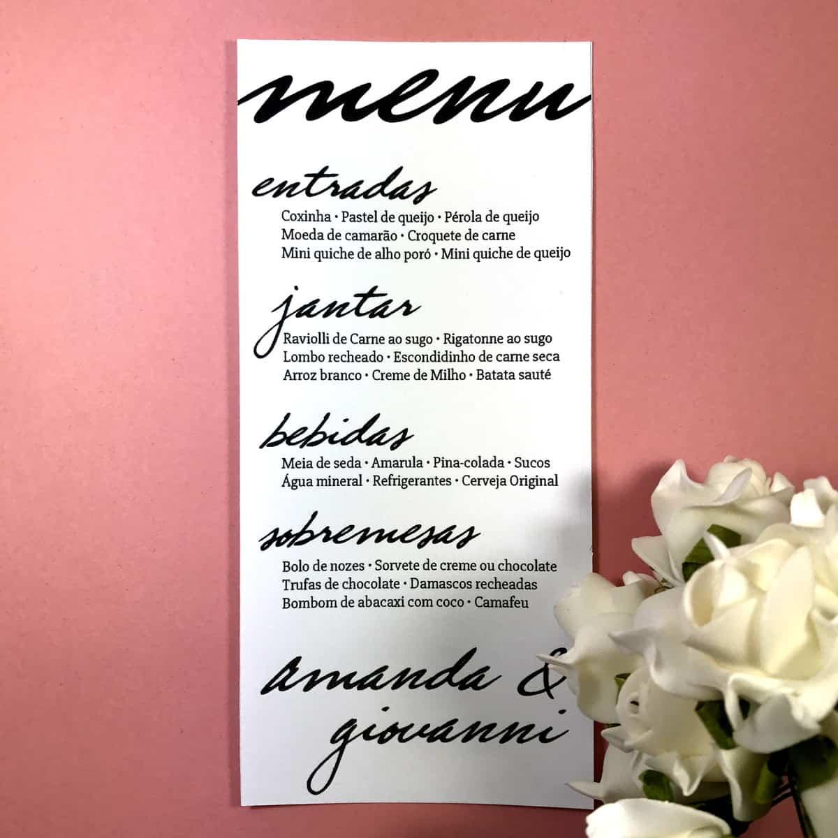 mini wedding, casamento em casa, organização, mesa casamento, menu casamento