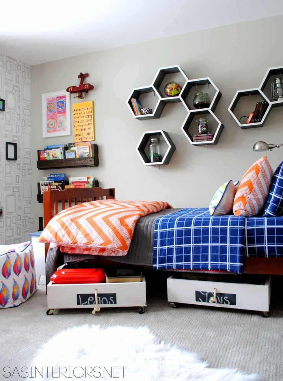 ideias para organizar o quarto das crianças