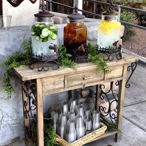 estações de bebidas, suqueira, suqueiras, casamento