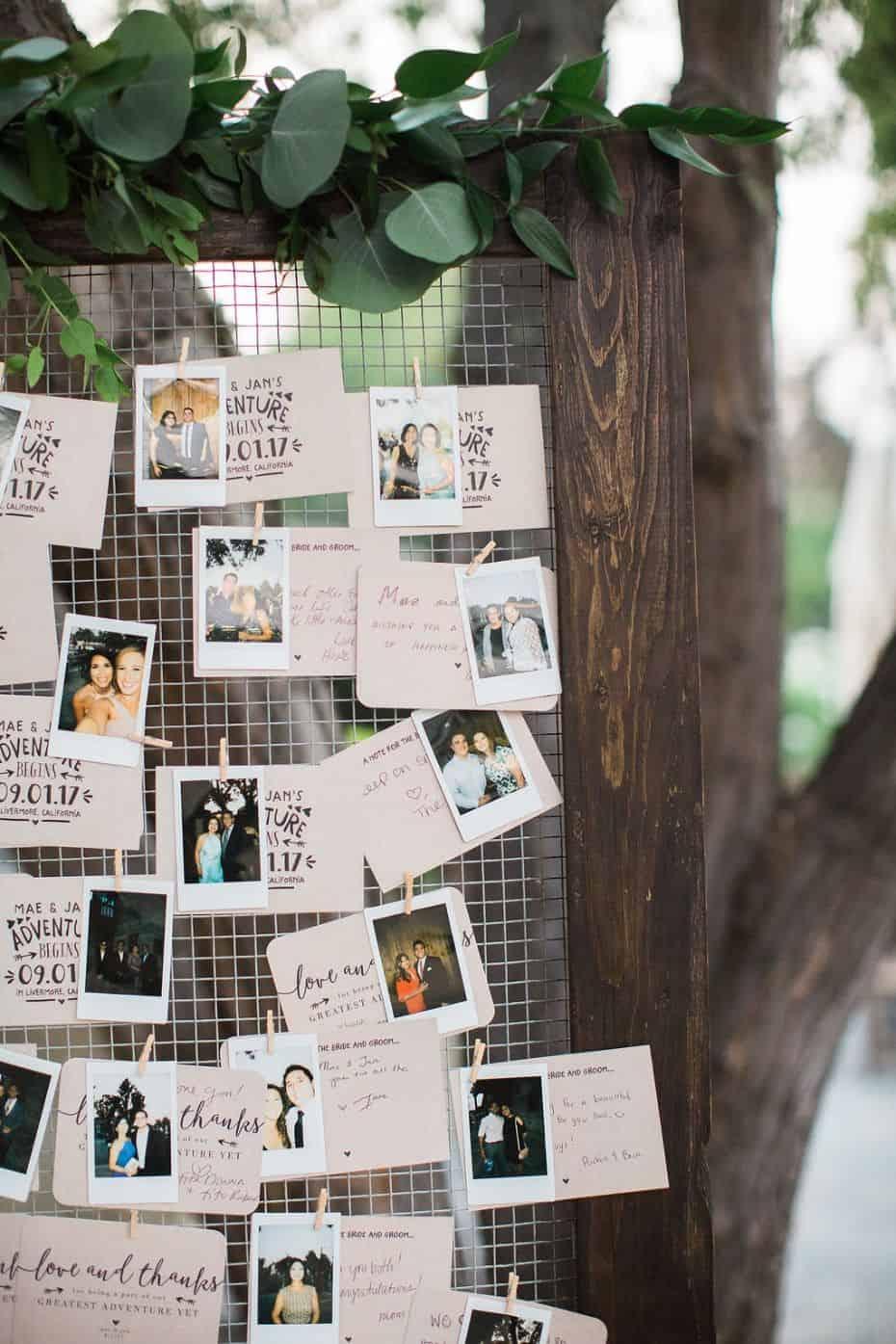 polaroid, casamento, organização