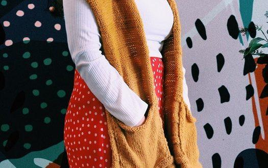 Cachecol com bolso: tendência do inverno