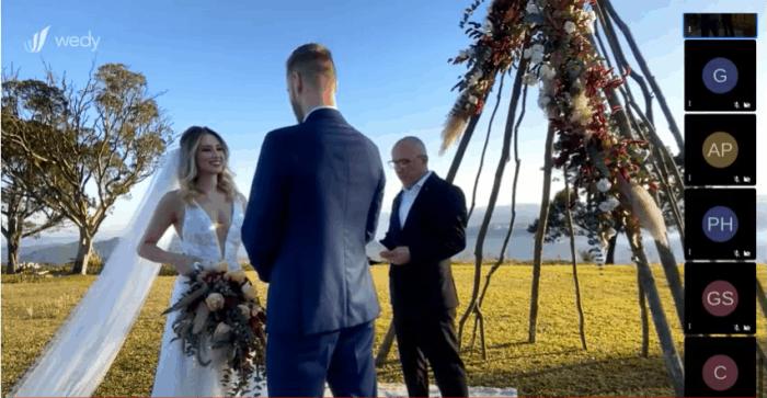 Elopement Wedding com transmissão online da Celebre Online.
