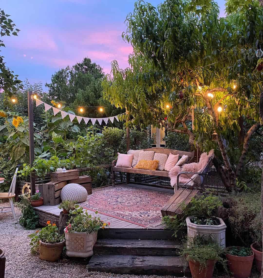 Lounge casamento no quintal