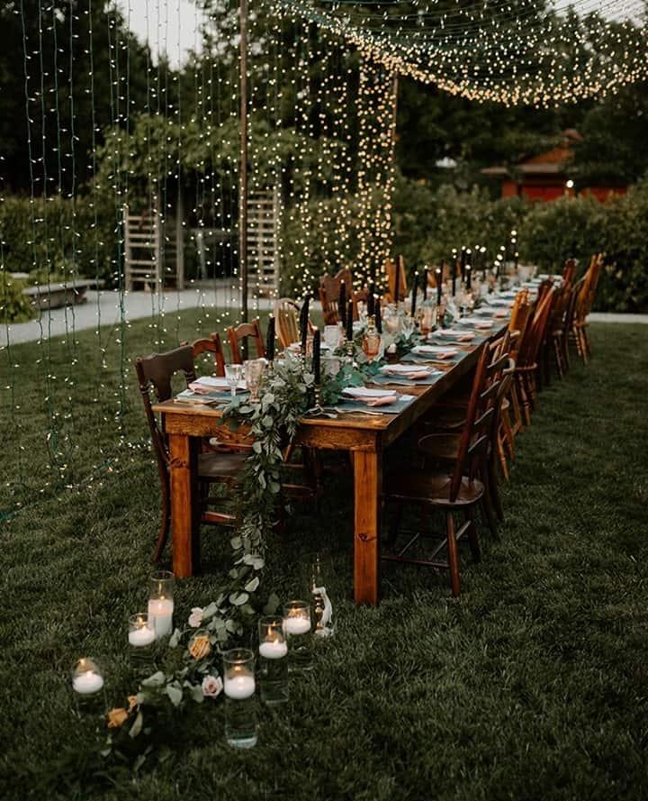 Luzes para decoração casamento
